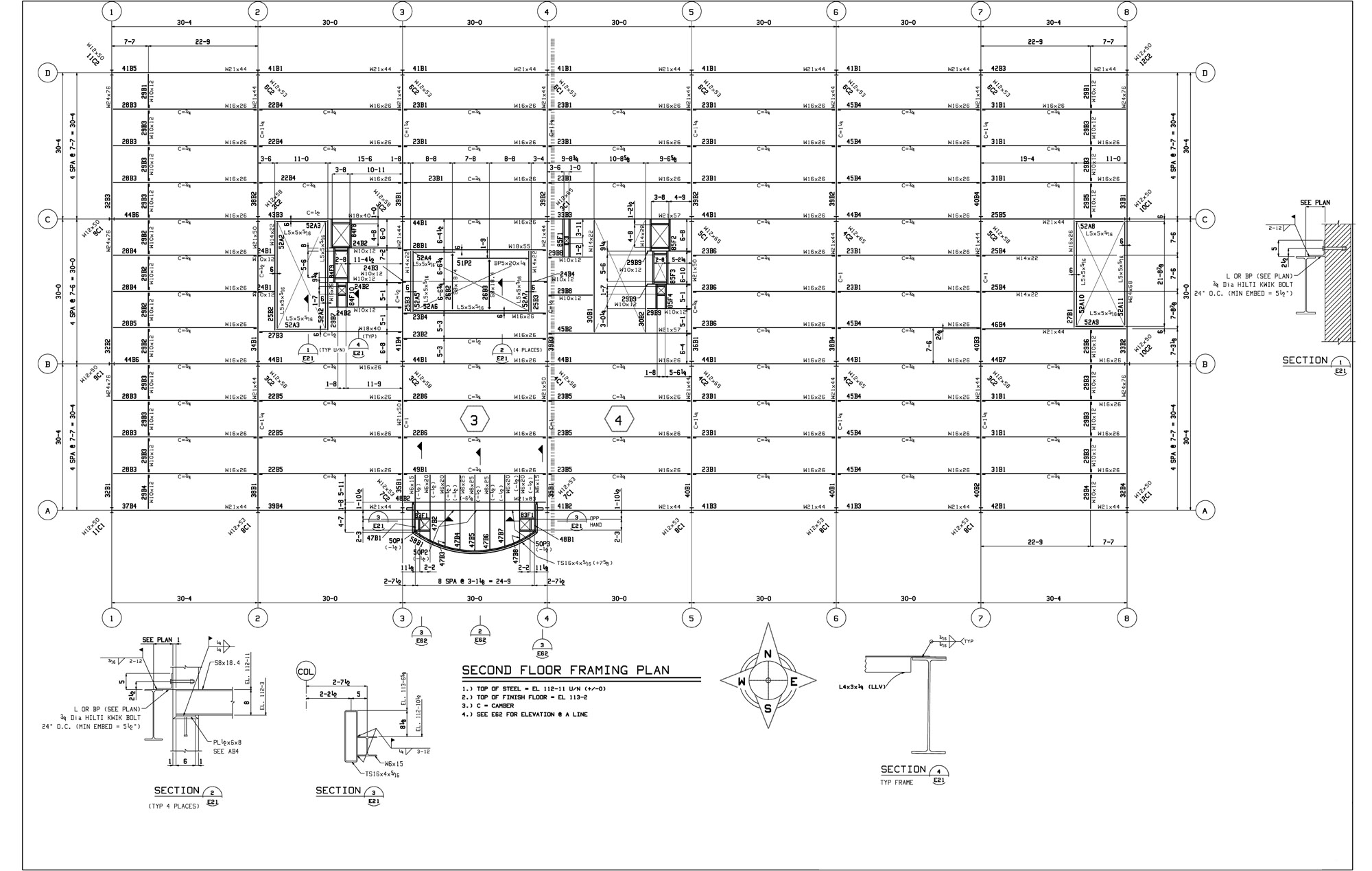 Drawings second floor framing for Floor framing plan