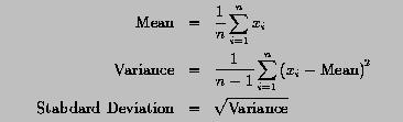Computing mean variance and standard deviation with array ccuart Image collections